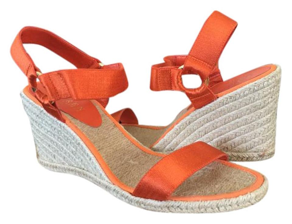 e2c65cc5e25 Ralph Lauren Orange Women s Indigo Wedge Espadrilles Sandals Size US ...