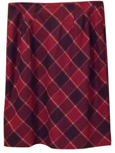 Ann Taylor LOFT Skirt Black, red, cream