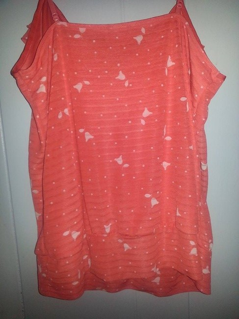 Express Summer Floral Ruffle Top Orange