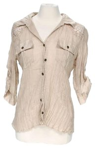Boston Proper Button Down Shirt Beige