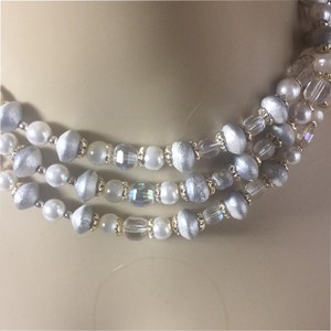 Creativedesigns byappealinglady White , Crystal Necklace Signed Japan