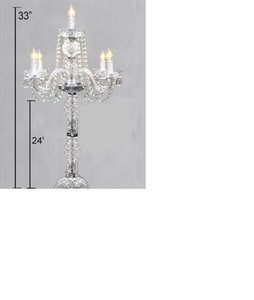 Crystal Candelabras (votive Candles Or Light Bulb)
