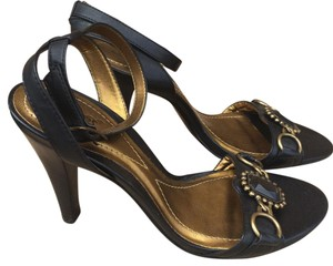 Carlos by Carlos Santana Jeweled Heels Black Sandals