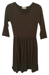 Everly short dress Army/Forest Green Sleeves Fit And Flare on Tradesy