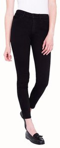 American Apparel High Waisted Skinny Jeans-Dark Rinse