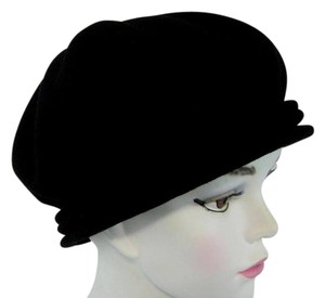 Nordstrom Nordstrom Chopin Beret Black 100% Pure Wool Made in France