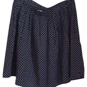 Old Navy Mini Skirt Navy and white dots