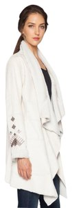 Biya Boho Faux-shearling Johnny Was Embroidery Coat
