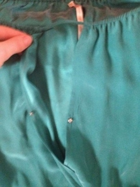 Twelfth St. by Cynthia Vincent short dress Turquoise Silk Mini on Tradesy