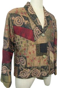Coldwater Creek Silk Tapestry Multi-color Jacket