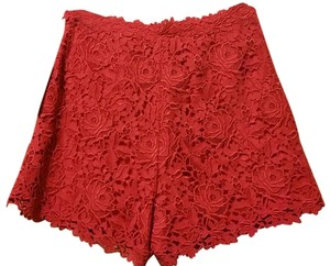 Valentino Lace Floral Dress Shorts Red