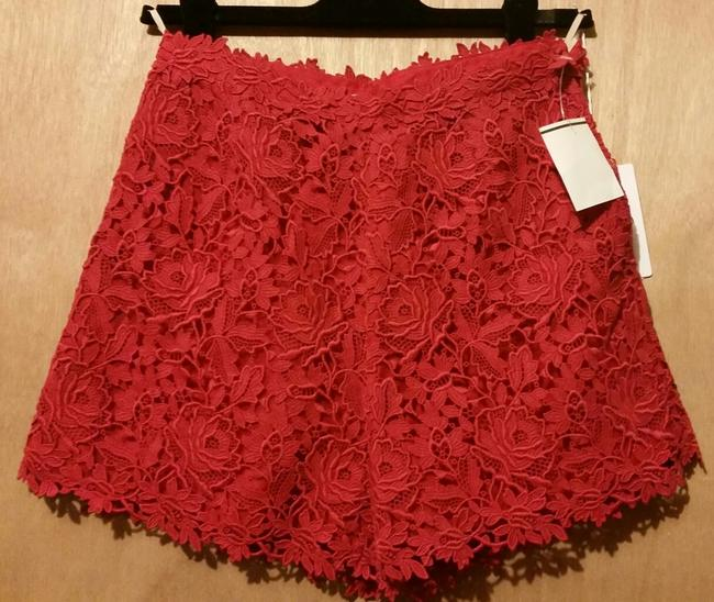 Valentino Lace Floral Dress Shorts Red Image 1