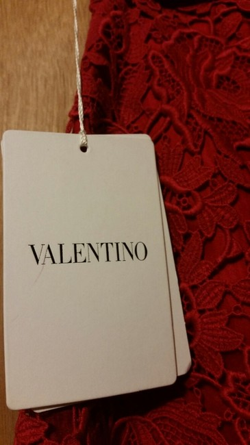 Valentino Lace Floral Dress Shorts Red Image 3