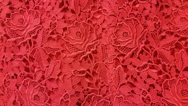 Valentino Lace Floral Dress Shorts Red Image 6
