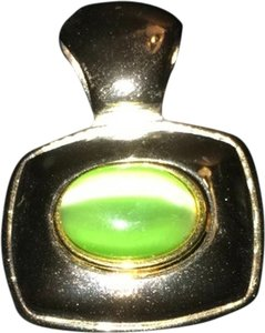 Other Sterling Silver Green Pendant