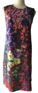 Clover Canyon short dress multicolor Shift Floral Print on Tradesy