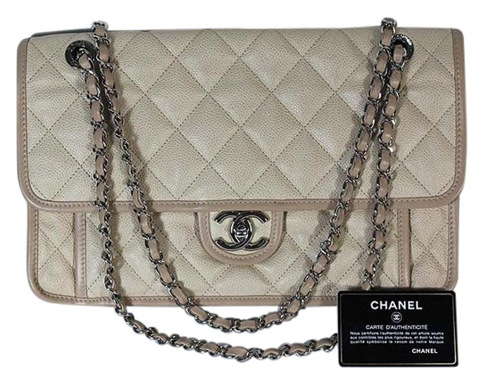 8674275ff2f3 Chanel Riviera Flap Silver Hardware Pink Caviar Leather Shoulder Bag ...