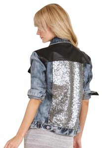 Amuse Society Blue black Womens Jean Jacket