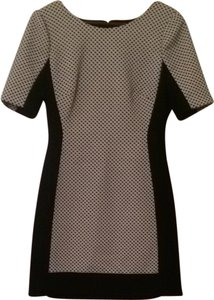 BCBG Career Work Color-blocking Chic Flattering Polka Dot Stretchy Boss Bodycon Dress