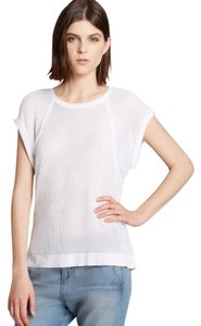 Rag & Bone Mesh & Edgy T Shirt white