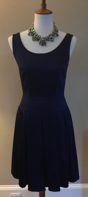 Elie Tahari ** Free Shipping ** Navy Peacoat Jessy Short Casual Dress Size 4 (S) Elie Tahari ** Free Shipping ** Navy Peacoat Jessy Short Casual Dress Size 4 (S) Image 1