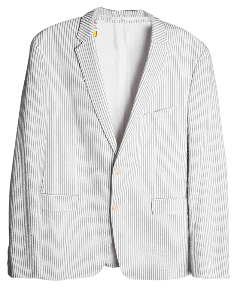 80955352 Hugo Boss White/Gray * Light Thin Stripe Mens Blazer Size 12 (L ...
