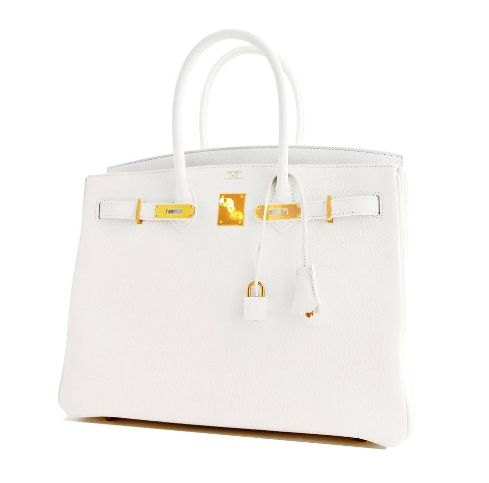 where to buy hermes bags - Herm��s Celeb Fave Gold 35cm Birkin Ghw 2016 Superb White Tote Bag ...