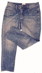 Christopher Blue Crop Mid-rise Capris denim
