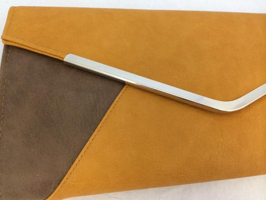 Urban Expressions Brown and Mustard Yellow Clutch