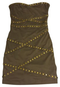 Forever 21 Studded Strapless Bodycon Edgy Mini Dress