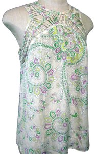 Anthropologie Leifnotes Blouse Silk Paisley Top Green Paisley