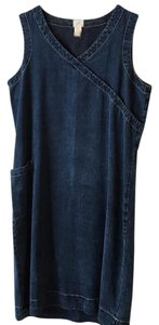 J. Jill short dress Stone washed dark denim. Comfortable on Tradesy