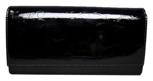 Dior Christian Dior Black Patent Leather Diorissimo Wallet