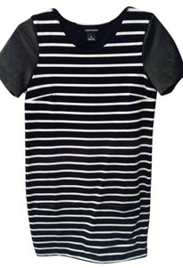 Club Monaco short dress Black and white stripe on Tradesy