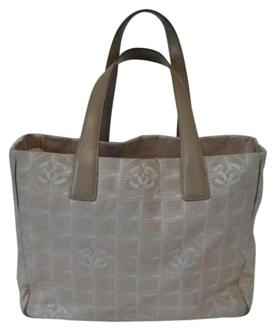 Item - Bag Travel Line Jacquard Cc Logo Large Pink Nylon Tote