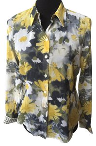 Paul Smith Button Down Shirt Grey , yellow, white . Multi