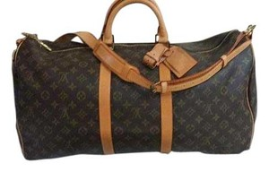 Louis Vuitton Keepall Bandouliere Luggage Monogram Travel Bag
