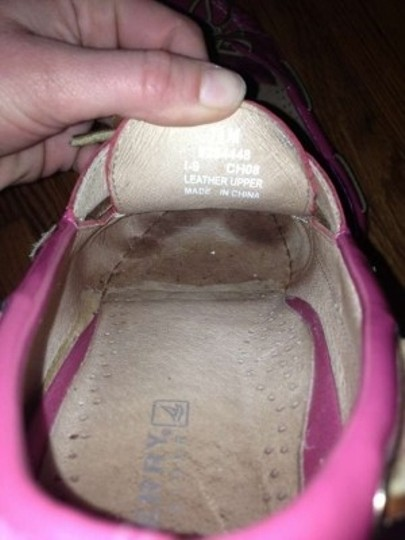 Sperry Patent Leather Boat Pink Flats