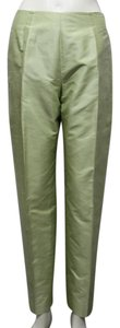 Oscar de la Renta Women Straight Pants Light lime green