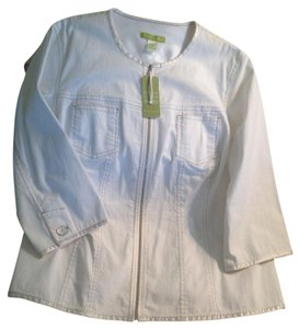 Sigrid Olsen WHITE Womens Jean Jacket