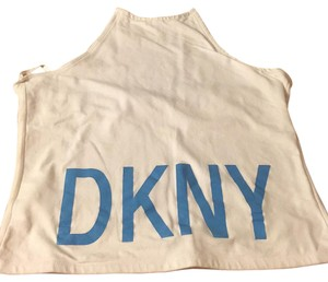 DKNY White/Blue Halter Top