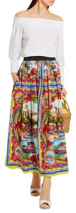Dolce&Gabbana New Season Runway D&g Carretto D&g Mondello Maxi Skirt Multi: Orange, Blue, Red, Yellow, White, Green