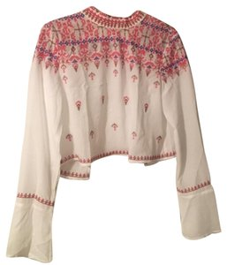 Urban Outfitters Top White/red/tan