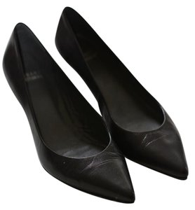Stuart Weitzman Poco Kid Leather Black Pumps