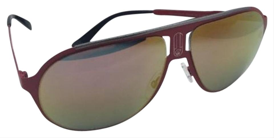 ce37c67be4ada Carrera New Sunglasses CARRERA CHAMPION MT 9EBUW Aviator Matte Red Frame w Orange  Mirror ...