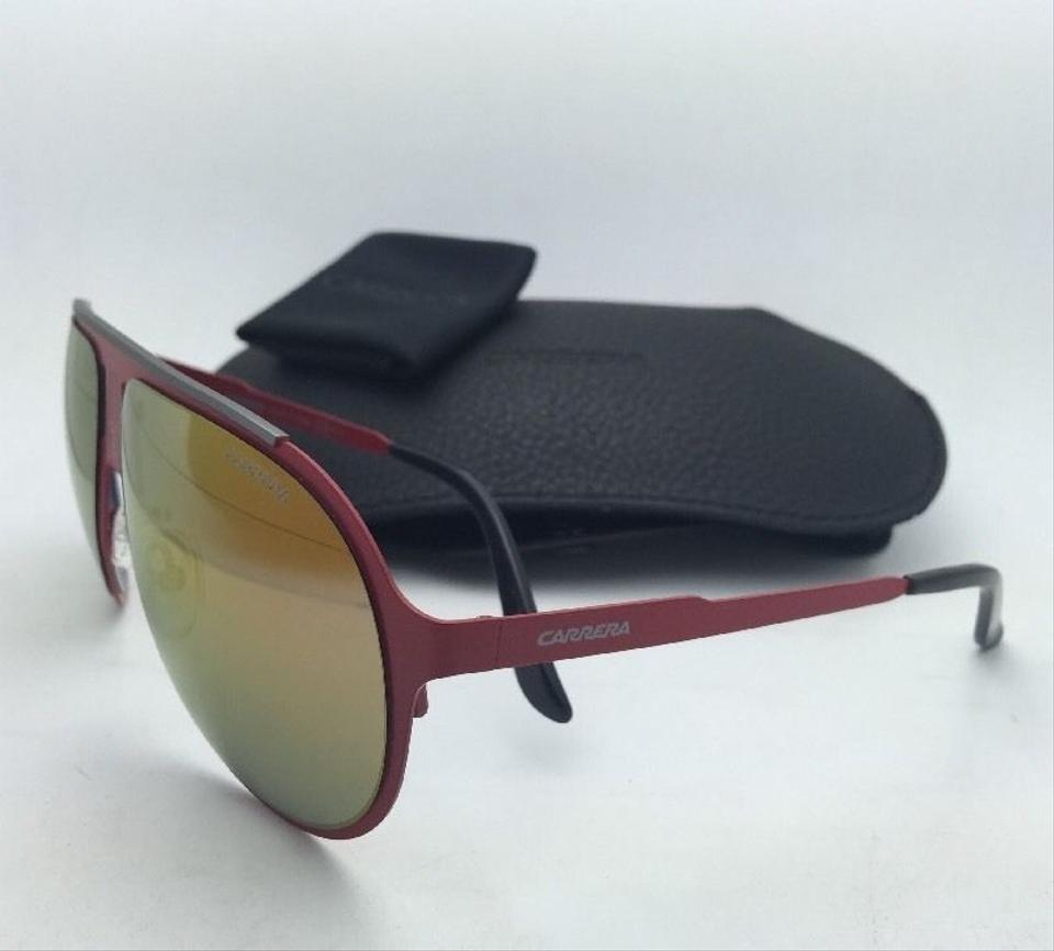 990d03f4b1665 Carrera New Sunglasses CARRERA CHAMPION MT 9EBUW Aviator Matte Red Frame w Orange  Mirror. 1234567891011