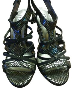 Nicole Miller Metallic silver / black Sandals