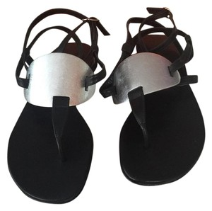 Hermès Black and Silver Sandals