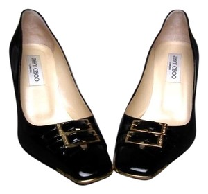 Jimmy Choo Patent Leather Stiletto Black Pumps