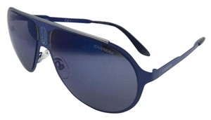 Carrera New Sunglasses CARRERA CHAMPION/MT 6VXXT Aviator Matte Blue Frame w/ Blue Mirror Lenses